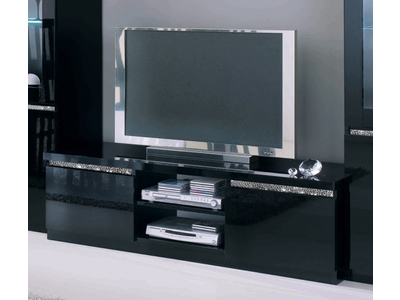 meuble tv en verre tremp noir 13 id es de d coration int rieure french decor. Black Bedroom Furniture Sets. Home Design Ideas