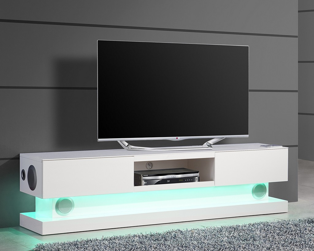 meuble tv hifi int gr blanc id es de d coration. Black Bedroom Furniture Sets. Home Design Ideas