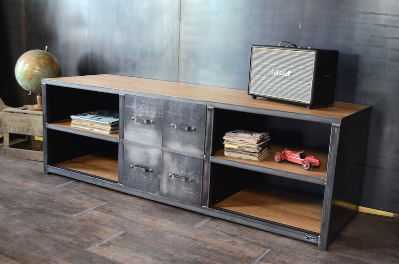 meuble tv metal gris 15 id es de d coration int rieure french decor. Black Bedroom Furniture Sets. Home Design Ideas