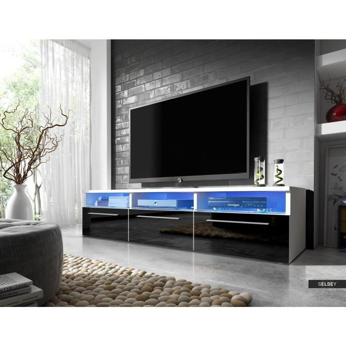 meuble tv noir et gris 17 id es de d coration int rieure french decor. Black Bedroom Furniture Sets. Home Design Ideas