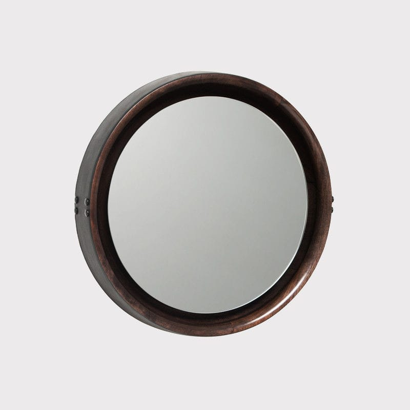 miroir cuir rond 20 id es de d coration int rieure french decor. Black Bedroom Furniture Sets. Home Design Ideas