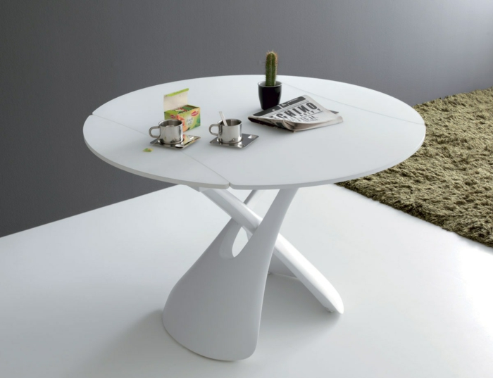 Petite table ronde de salon id es de d coration int rieure french decor - Table ronde de salon ...