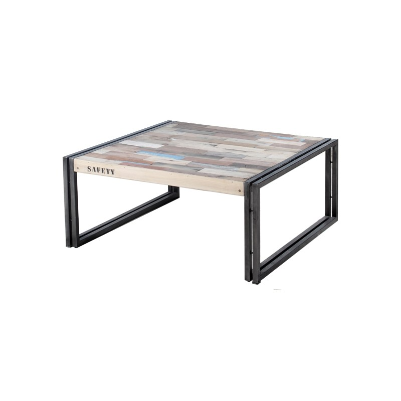 table basse bois et metal pas cher id es de d coration. Black Bedroom Furniture Sets. Home Design Ideas