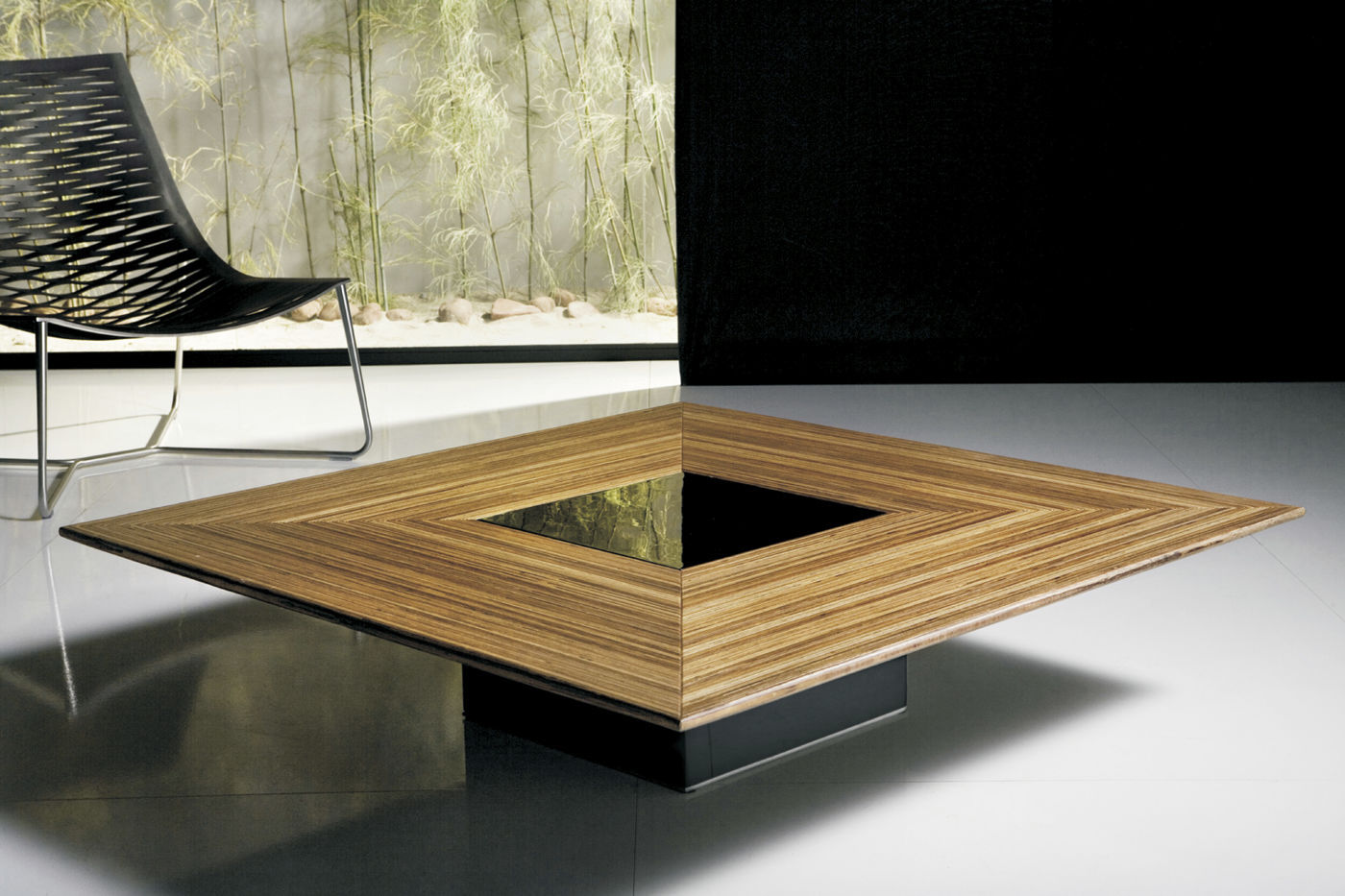 table basse de salon en verre et bois id es de. Black Bedroom Furniture Sets. Home Design Ideas