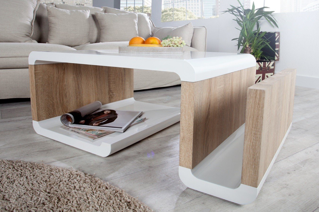table basse laqu blanc et bois 6 id es de d coration. Black Bedroom Furniture Sets. Home Design Ideas