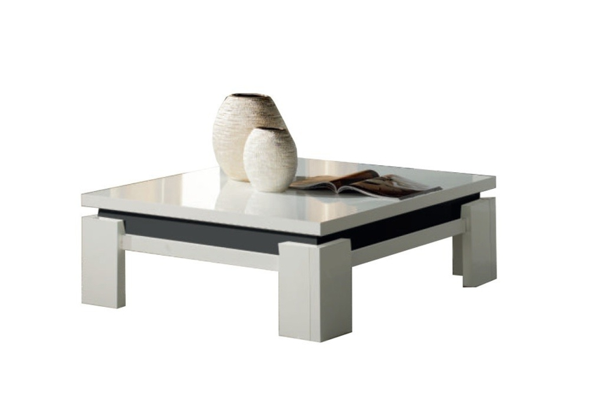Table basse laqu blanc et noir id es de d coration for Table basse noir laque