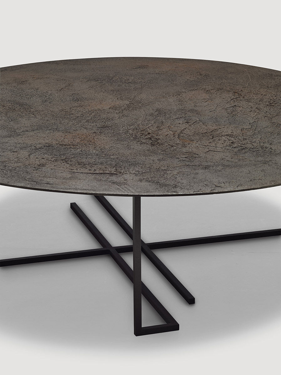 Table basse ronde en metal 11 id es de d coration - Table basse metal ronde ...