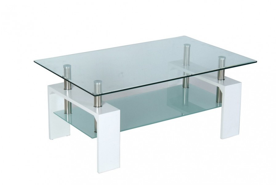 Table basse verre et blanc id es de d coration int rieure french decor for Table basse verre et blanc