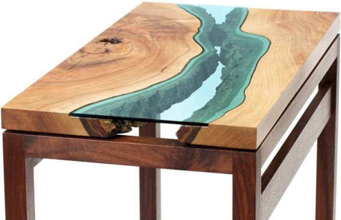 table de salon moderne en bois