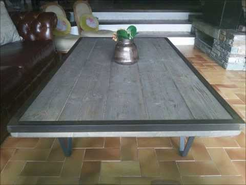 Table salon bois et fer 16 id es de d coration for Table salon bois et fer