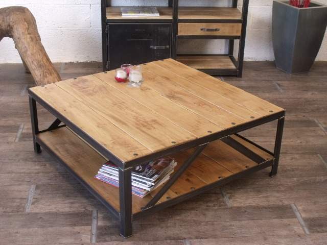 Table salon bois et fer 6 id es de d coration int rieure for Table salon bois et fer