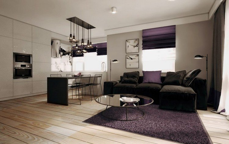 tapis aubergine 19 id es de d coration int rieure french decor. Black Bedroom Furniture Sets. Home Design Ideas