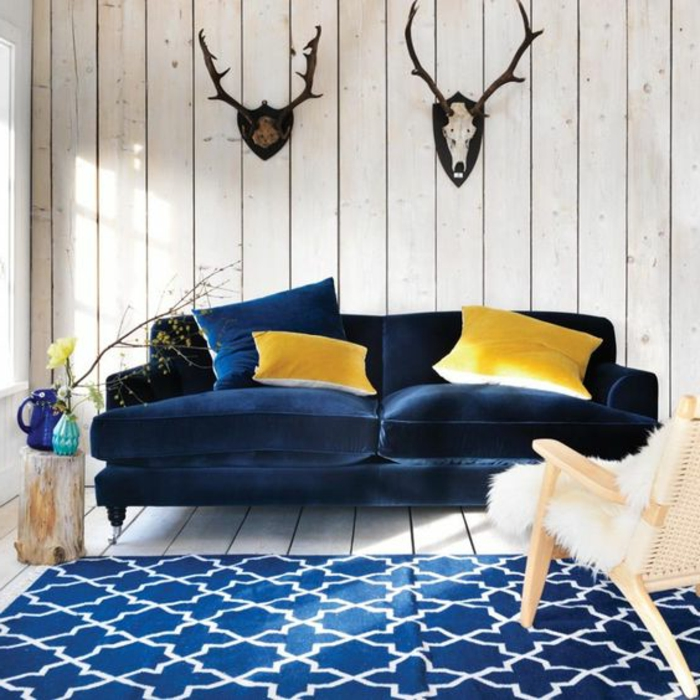tapis bleu et jaune 18 id es de d coration int rieure. Black Bedroom Furniture Sets. Home Design Ideas