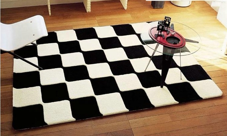 tapis de salon noir et blanc id es de d coration int rieure french decor. Black Bedroom Furniture Sets. Home Design Ideas