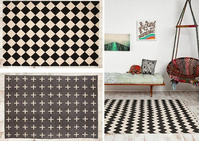 tapis graphique noir et blanc id es de d coration int rieure french decor. Black Bedroom Furniture Sets. Home Design Ideas