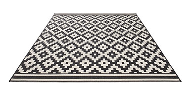 tapis graphique noir et blanc 5 id es de d coration int rieure french decor. Black Bedroom Furniture Sets. Home Design Ideas