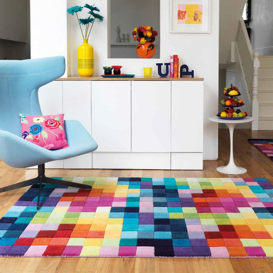 Tapis multicolore pas cher id es de d coration for Des idees de decoration interieure