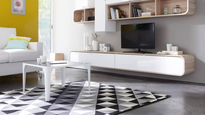 tapis noir blanc gris id es de d coration int rieure french decor. Black Bedroom Furniture Sets. Home Design Ideas