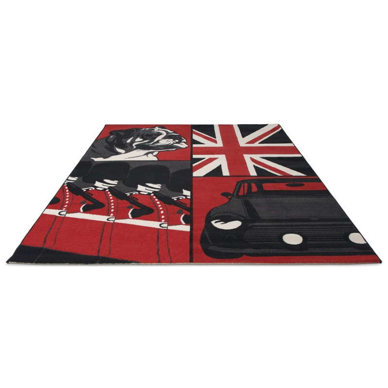 tapis noir et rouge id es de d coration int rieure french decor. Black Bedroom Furniture Sets. Home Design Ideas