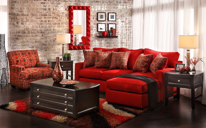 fauteuil salon rouge id es de d coration int rieure french decor. Black Bedroom Furniture Sets. Home Design Ideas
