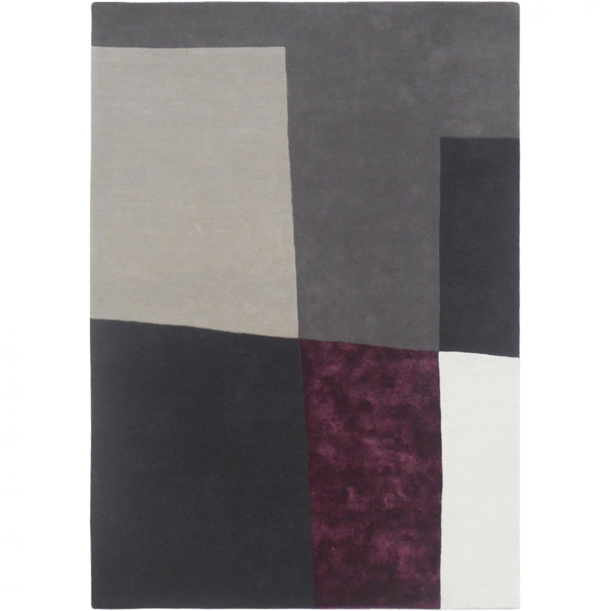 tapis gris et prune idees de decoration interieure With tapis prune et gris