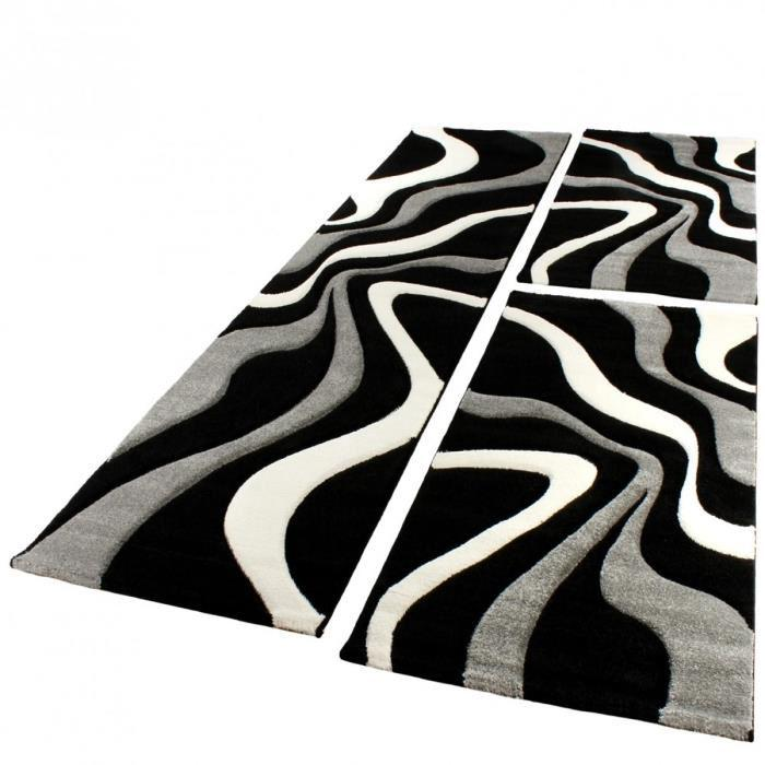 tapis gris noir et blanc id es de d coration int rieure french decor. Black Bedroom Furniture Sets. Home Design Ideas