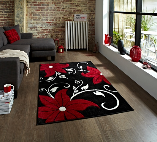 tapis gris noir rouge id es de d coration int rieure french decor. Black Bedroom Furniture Sets. Home Design Ideas