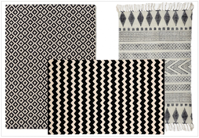 tapis noir et blanc losange id es de d coration int rieure french decor. Black Bedroom Furniture Sets. Home Design Ideas