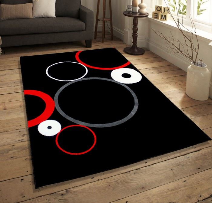 tapis rouge noir blanc id es de d coration int rieure. Black Bedroom Furniture Sets. Home Design Ideas