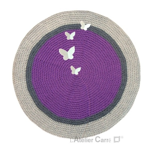 Best Tapis Violet Rond Images Awesome Interior Home