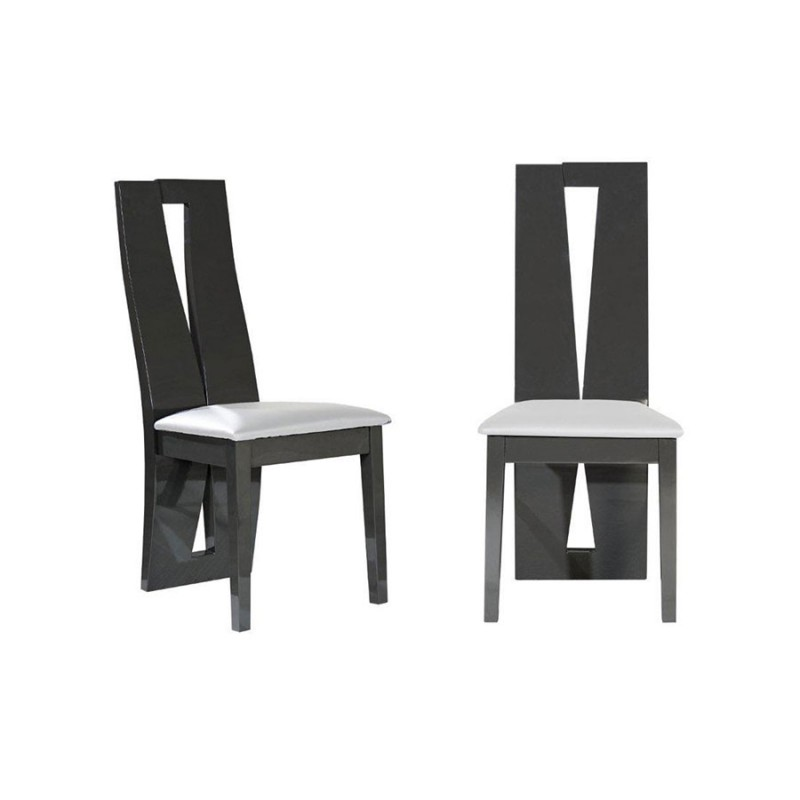 chaises grises salle manger id es de d coration int rieure french decor. Black Bedroom Furniture Sets. Home Design Ideas