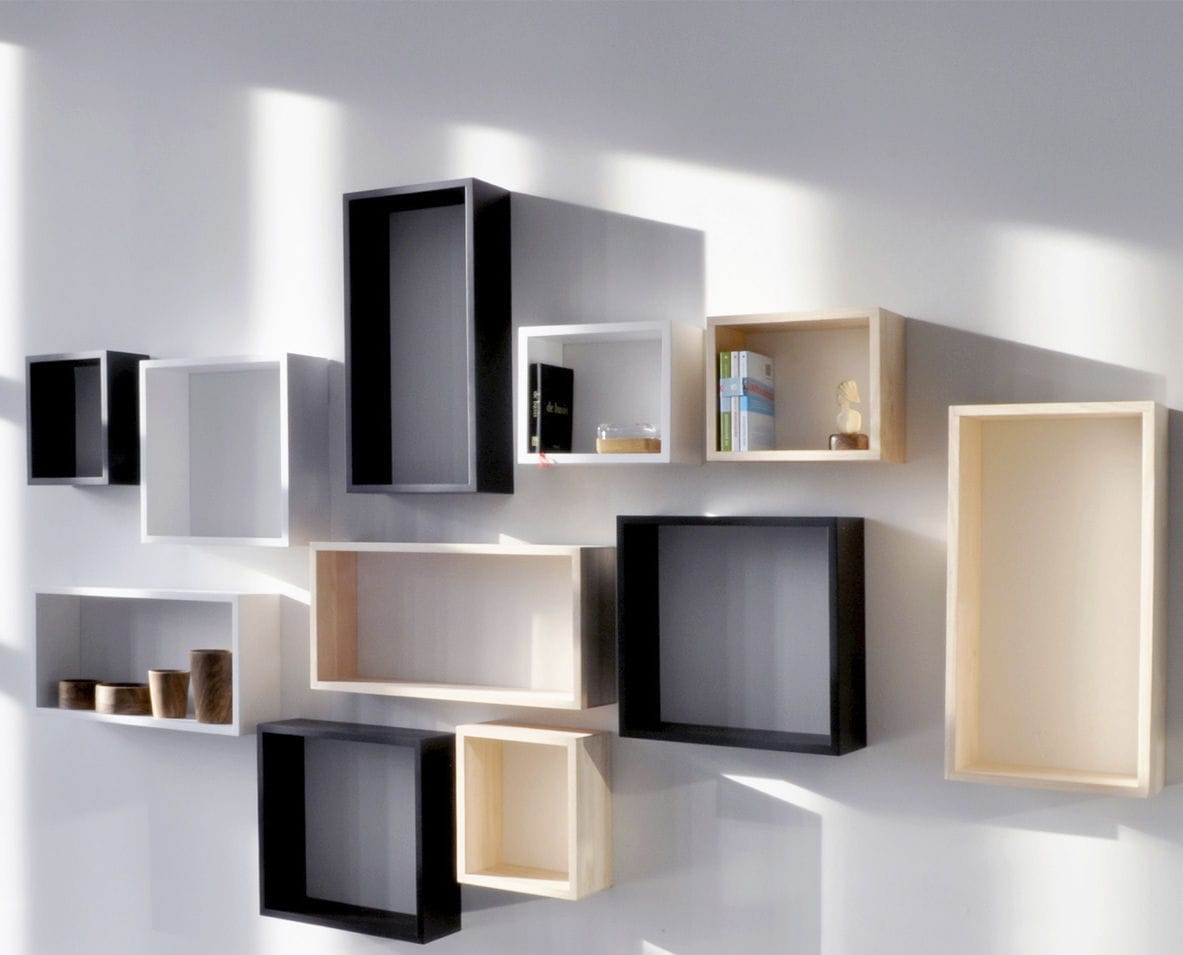 etagere cube murale id es de d coration int rieure. Black Bedroom Furniture Sets. Home Design Ideas