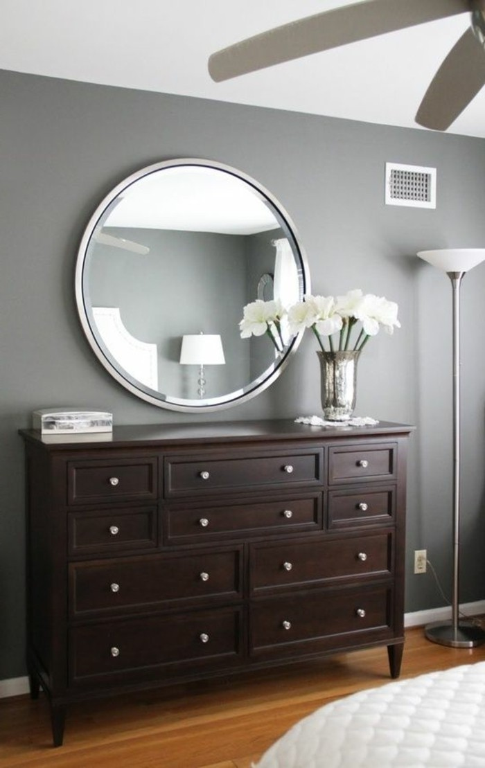 grand miroir rond id es de d coration int rieure french decor. Black Bedroom Furniture Sets. Home Design Ideas