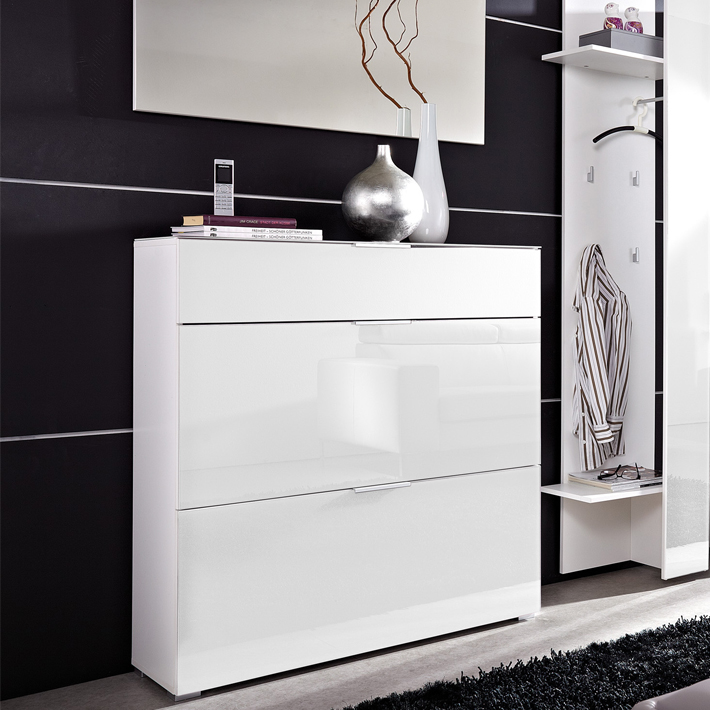 meuble chaussures laqu blanc id es de d coration. Black Bedroom Furniture Sets. Home Design Ideas
