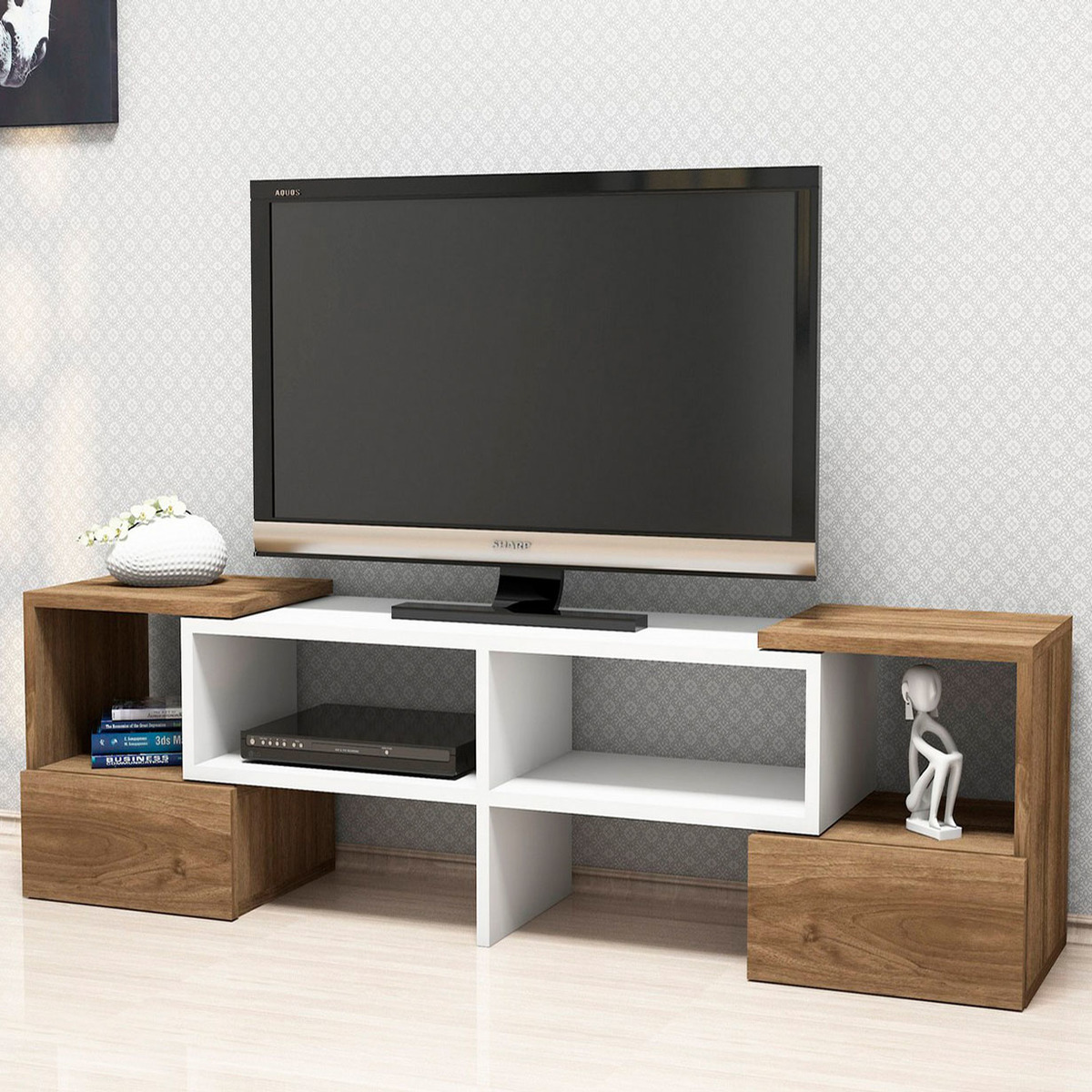 meuble tv 120 cm id es de d coration int rieure french decor. Black Bedroom Furniture Sets. Home Design Ideas
