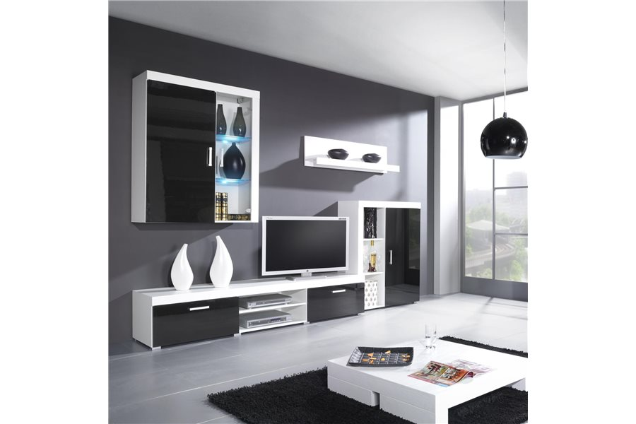 meuble tv mural design id es de d coration int rieure french decor. Black Bedroom Furniture Sets. Home Design Ideas