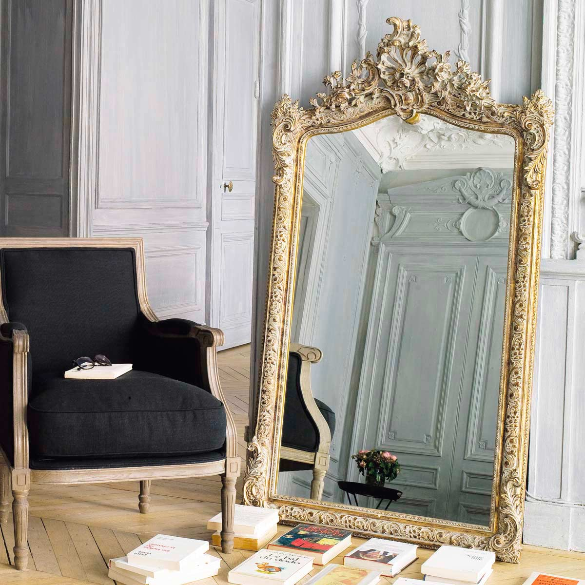 miroir dor maison du monde id es de d coration. Black Bedroom Furniture Sets. Home Design Ideas