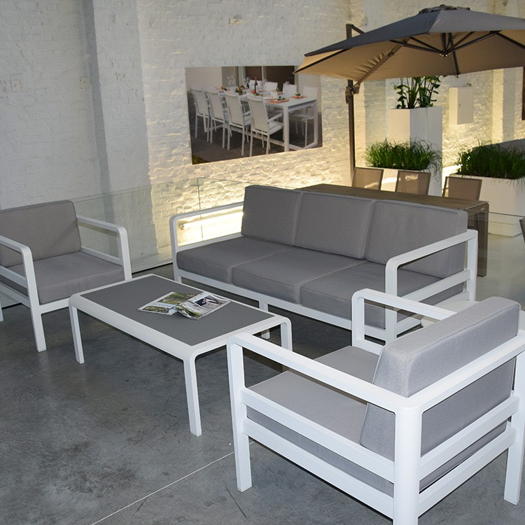 Salon bas de jardin aluminium id es de d coration int rieure french decor - Salon de jardin aluminium ...