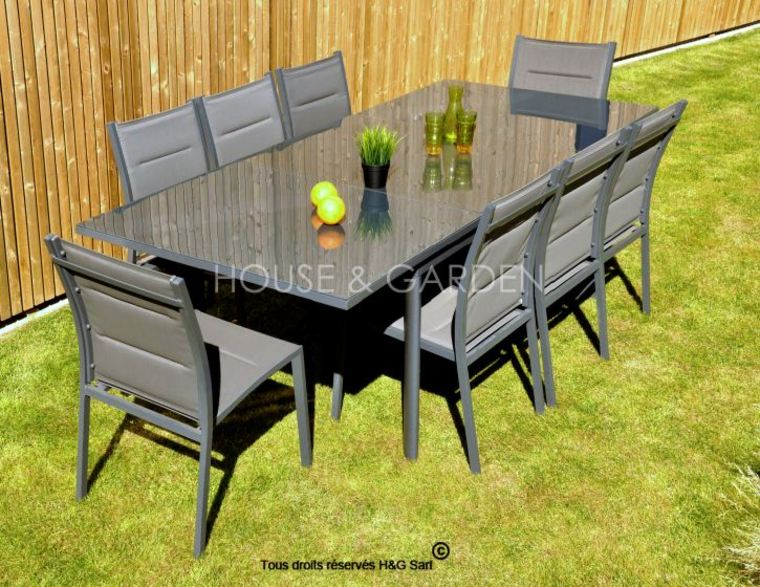 salon de jardin aluminium soldes id es de d coration. Black Bedroom Furniture Sets. Home Design Ideas
