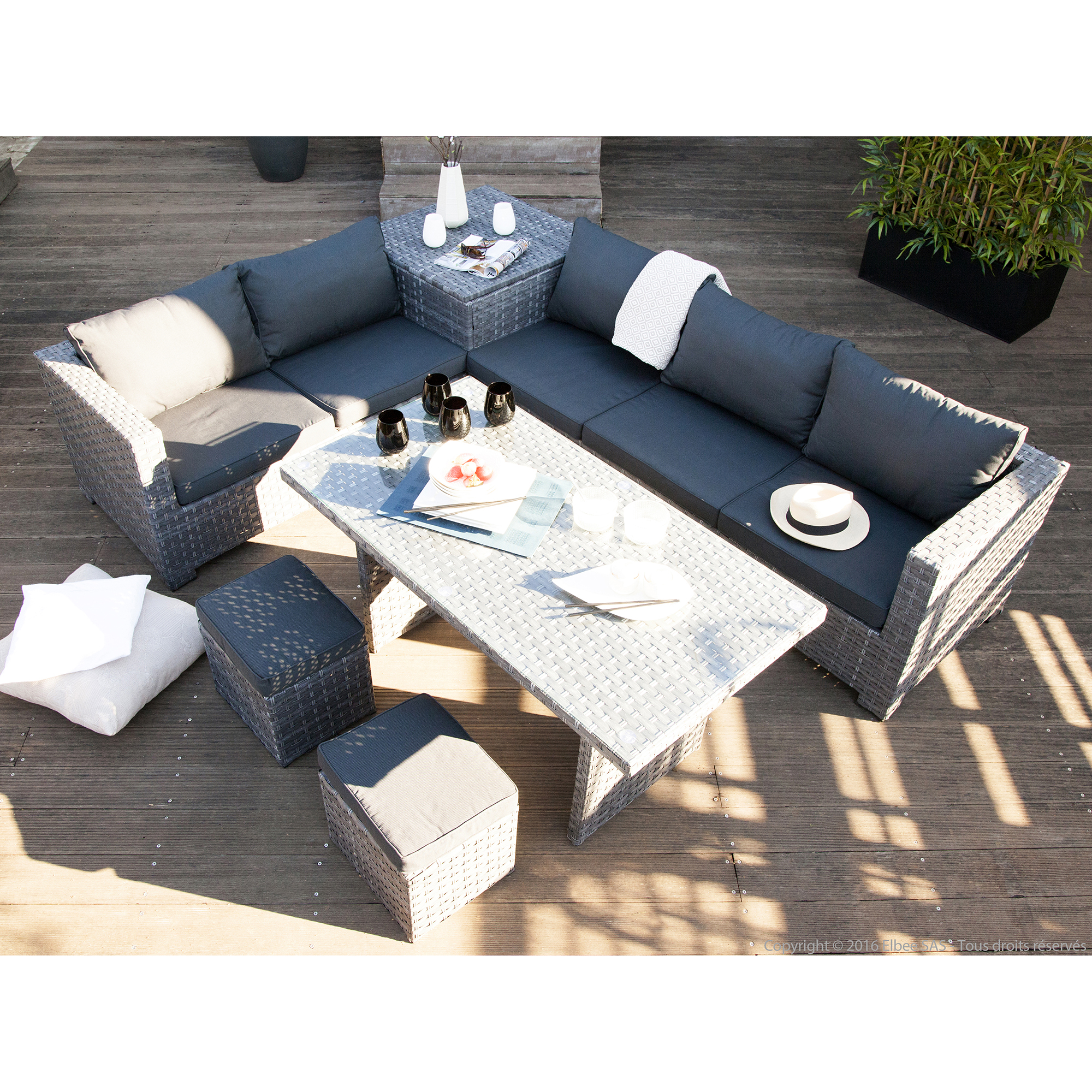 salon de jardin avec table haute id es de d coration. Black Bedroom Furniture Sets. Home Design Ideas