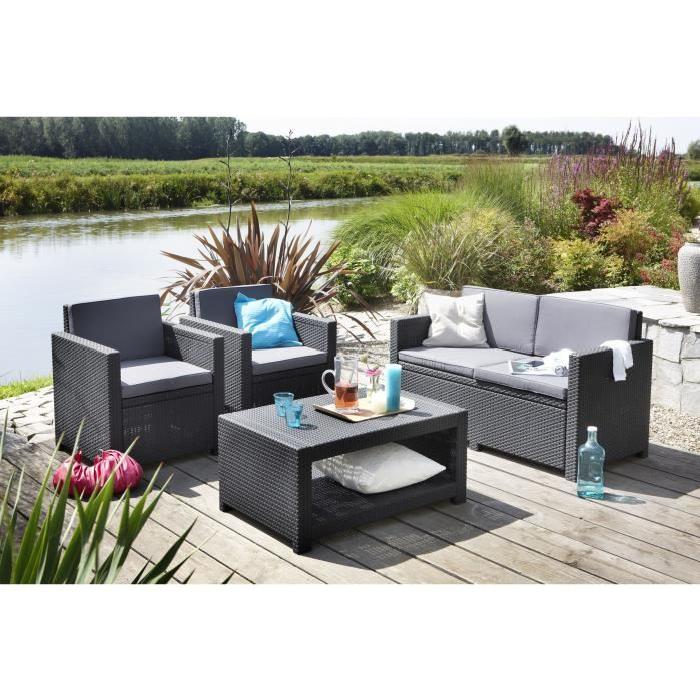 salon de jardin en plastique pas cher id es de. Black Bedroom Furniture Sets. Home Design Ideas