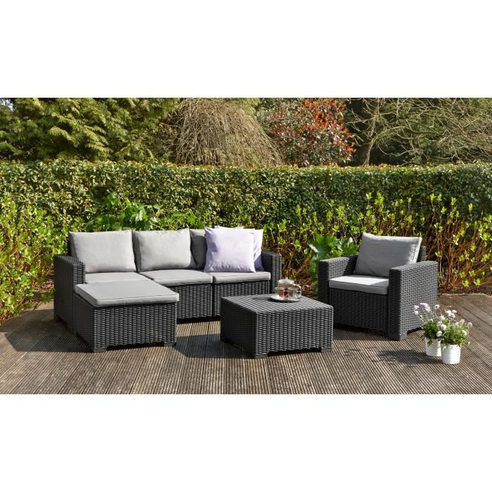 salon de jardin gris anthracite pas cher id es de. Black Bedroom Furniture Sets. Home Design Ideas