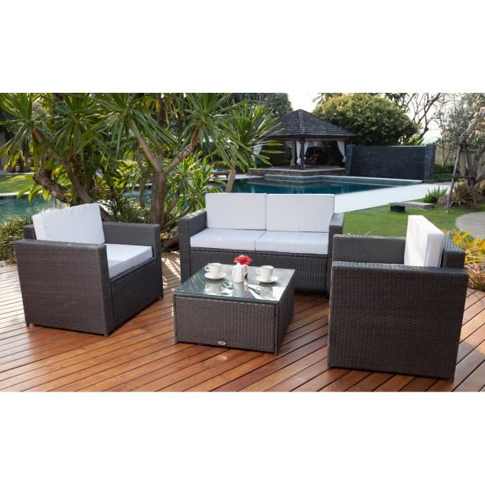 Petit Canap De Jardin. Great Salon De Jardin Aluminium Gris With ...