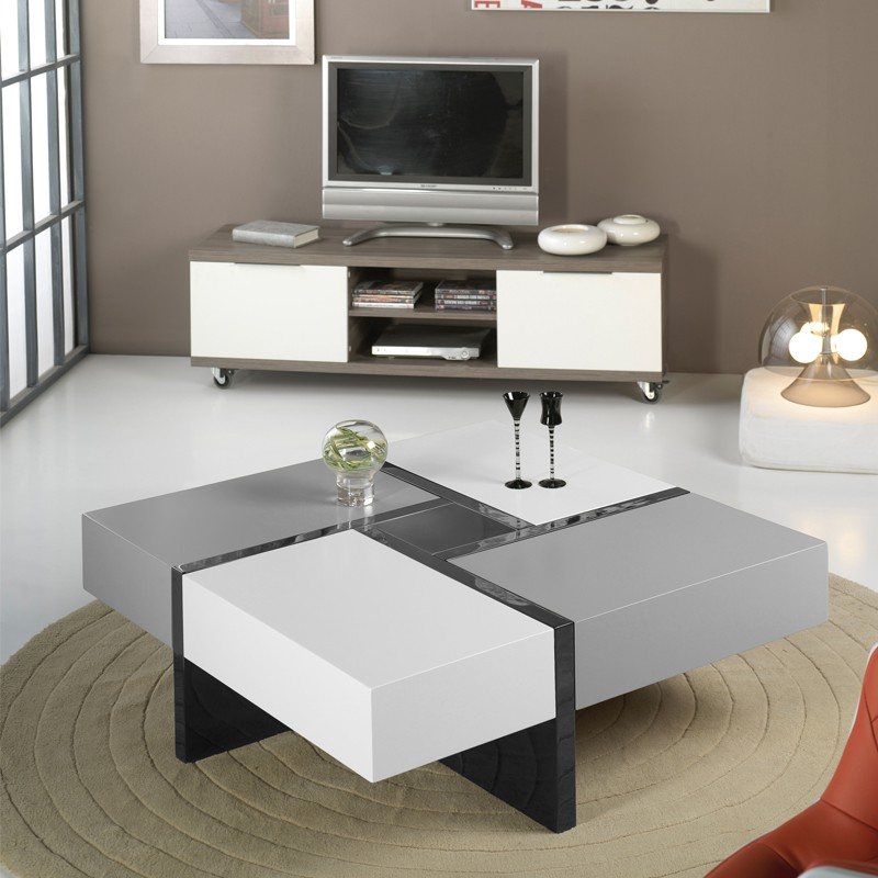 table basse grise et blanche id es de d coration int rieure french decor. Black Bedroom Furniture Sets. Home Design Ideas