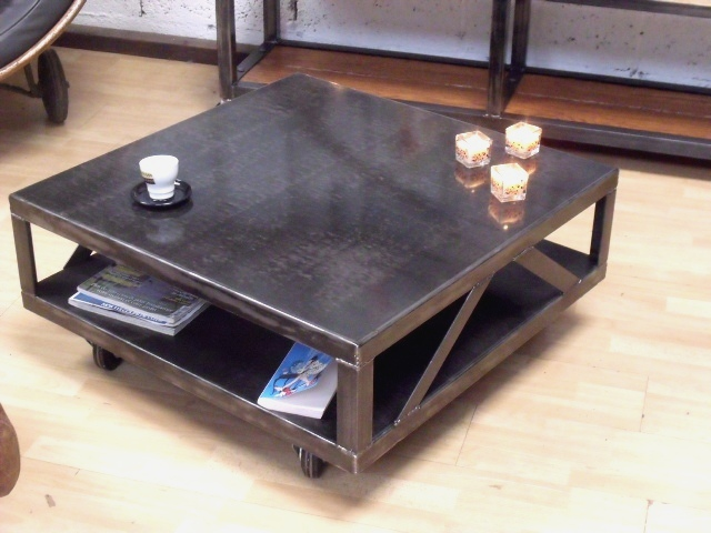 table basse industrielle - Table Salon Industrielle