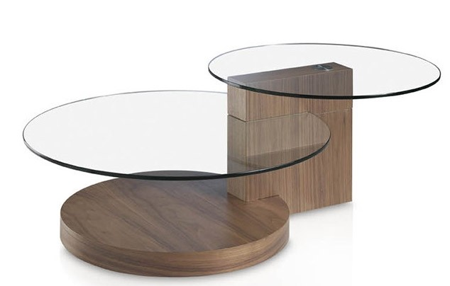 table basse ronde verre