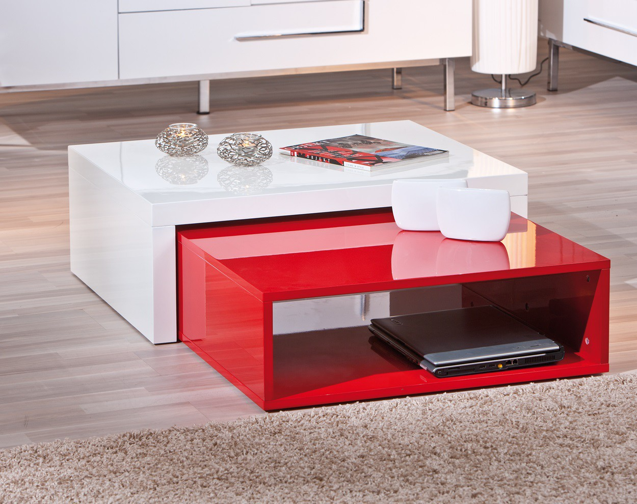 Charmant Table Basse Rouge