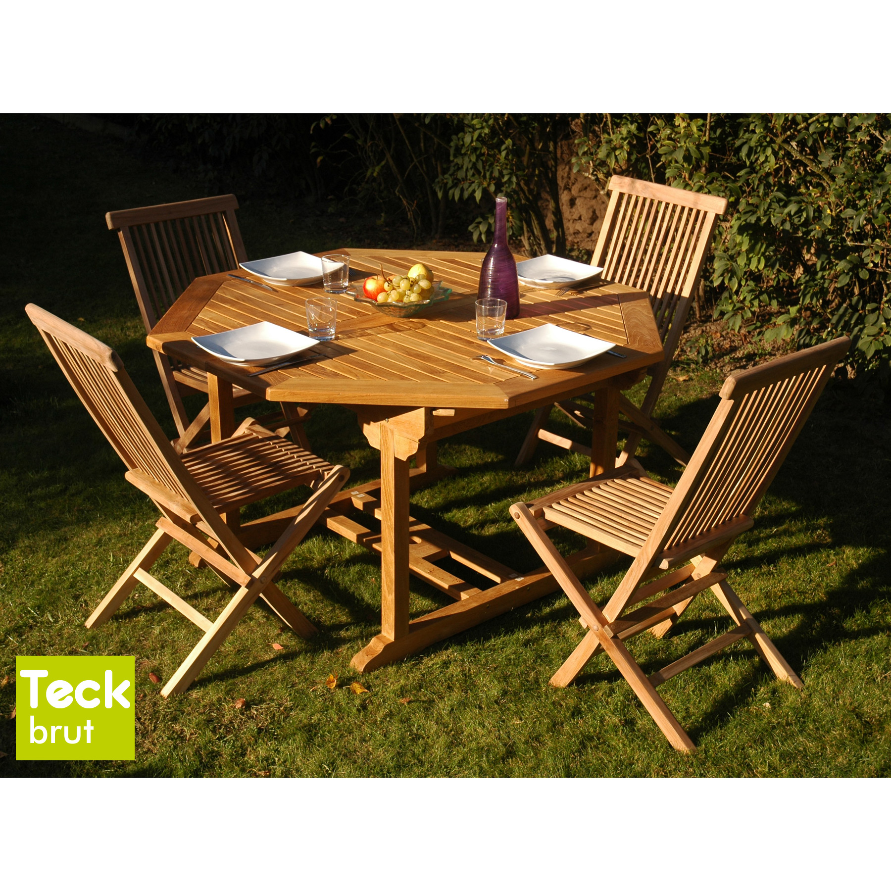 Best Salon De Jardin Teck Table Octogonale Contemporary - Awesome ...
