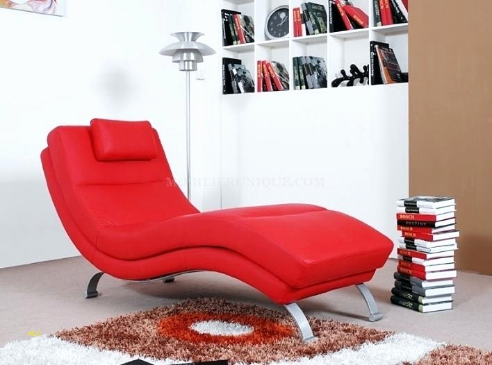 chaise cuir rouge