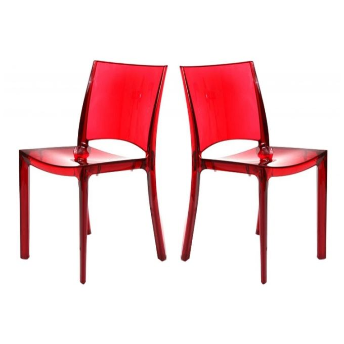 Chaise rouge transparente id es de d coration int rieure french decor - Chaise rouge transparente ...